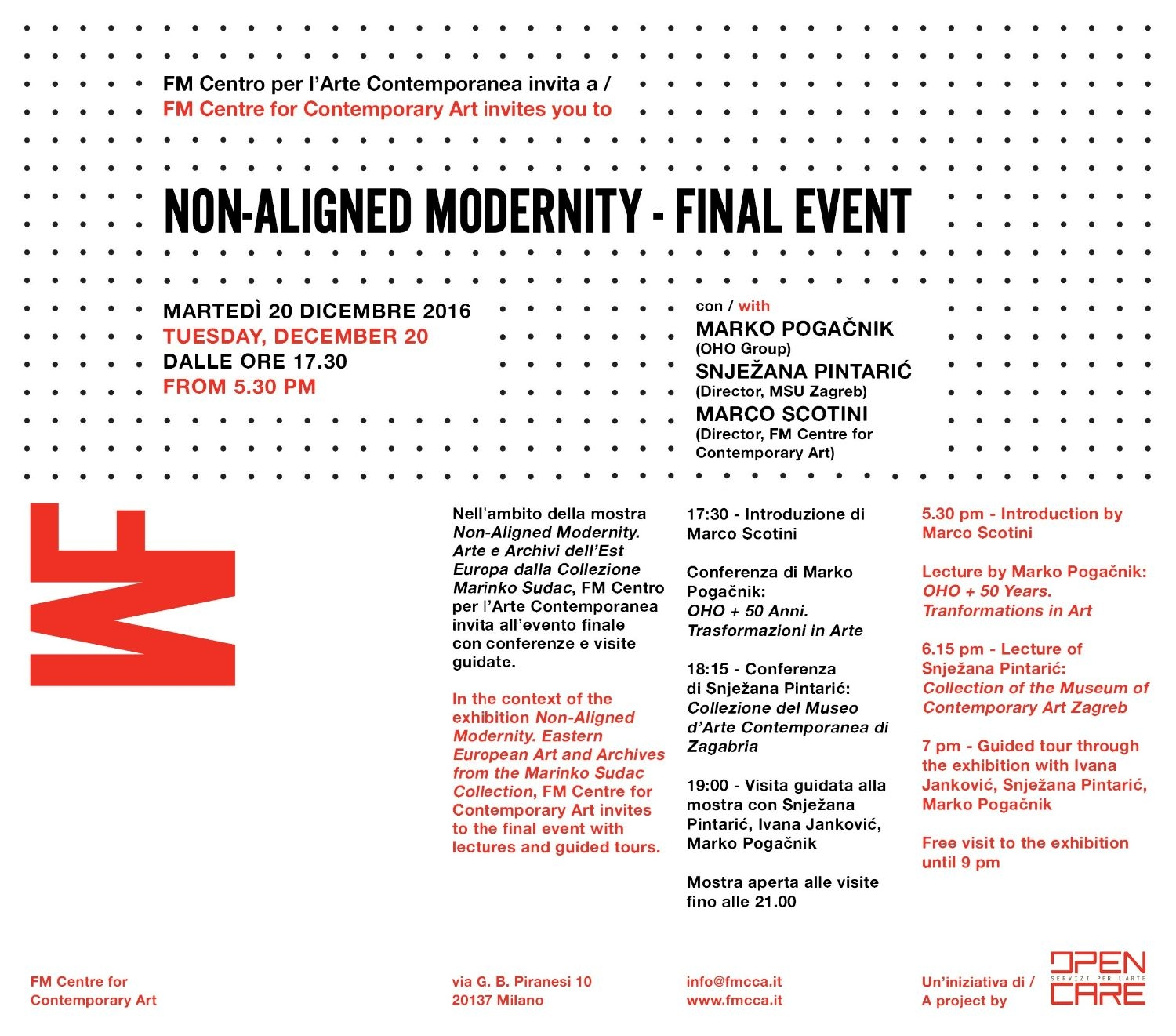 Non-Aligned Modernity - Final Event